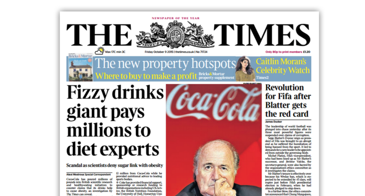 The Coca-Cola-Funded Obesity Experts Scandal Hits the UK http://t.co/iZaEPXXnQz http://t.co/IwmDpe5EWX