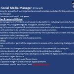 @SAMAATV requires services of Social Media Manager #Job #Pakistan #Journalism http://t.co/rGXUf04XUZ
