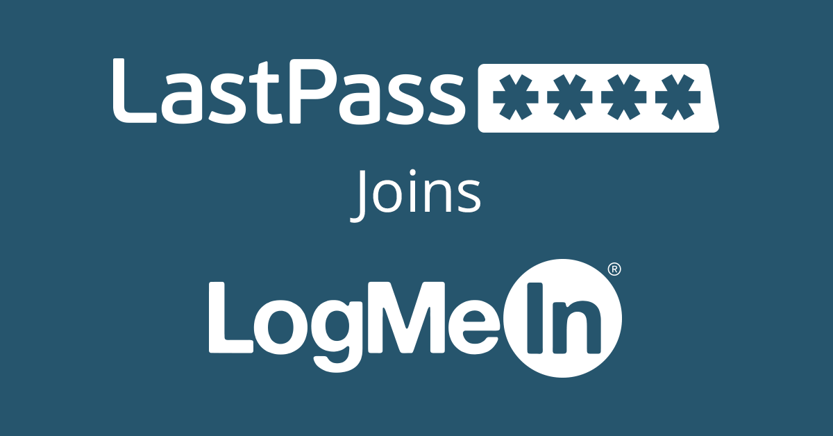 Big news: #LastPass has joined @LogMeIn! https://t.co/p1YMkgqj1B http://t.co/CyEX1j7mIh