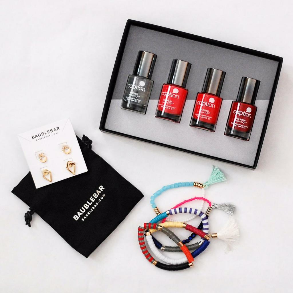 Retweet to enter to win these @BaubleBar jewels & @Captionpolish set! (Winner chosen Monday) #ccfreebiefriday http://t.co/ysCvK8OmZx
