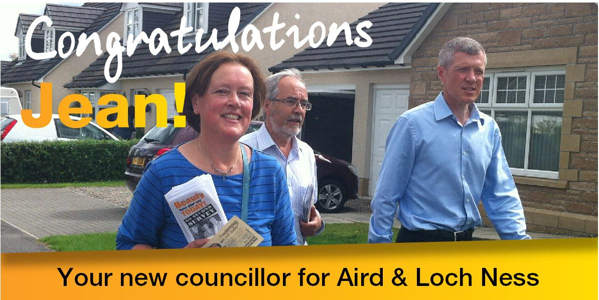A massive congratulations to @jeanmedavis on her by-election gain in Aird & Loch Ness! #LibDemFightback http://t.co/YY9pQ0Kwqn