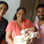 Actress #Jyotika blessed the newly born baby girl of dance masters Lalitha & Shobi Dance Master Today