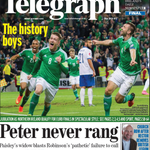 No prizes 4 guessing whats on todays Belfast Telegraph back page. And the front page. And most of the others ... http://t.co/ywAKqK0Qkx