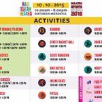 all these activities are for free! #MISE2015 #HariSukanNegara #JomTurunPadang http://t.co/goCgvl7Mbe