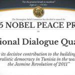 2015 Nobel Barış Ödülü Tunus Ulusal Diyalog Dörtlüsü'nün oldu http://t.co/bpz5DwnSjp http://t.co/hUWWQmE6hH