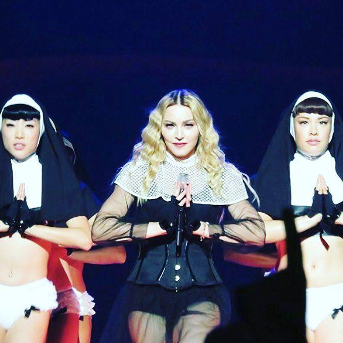 Bless yourself and Genuflect! #holywater ❤️ #rebelheartour http://t.co/9jVfJTM380