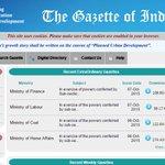 Govt.shifts to e-publishing;Gazette Notifications are available on http://t.co/rqCUBeDZgU: http://t.co/koa4FxfRLt http://t.co/AZ8sbRs5ma