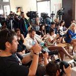 Muchos medios de comunicación presentes en la rueda de prensa de Oliver Stone. Buena publicidad para #Palma http://t.co/jtyOX3DVex