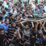 #عاجل #البريج_برس تشييع جنازة الشهيد أحمد الهرباوي من مخيم النصيرات والذي استشهد في المواجهات الدائرة شرق الشجاعية http://t.co/gMuG6QLQVL