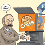 Many accusations that #NDP are using poll statics from Laytons Orange Crush. Under #Mulcair its Orange Crash. http://t.co/T6doneIaRj