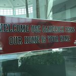 """Our home is your home"" Great welcome sign @BTRairport for the South Carolina fans. #LSUvsUSC http://t.co/DfAtZMPV8K"