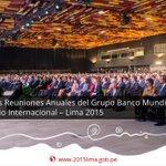 [Fotos] Sesión Plenaria de las Reuniones Anuales del GBM y del FMI #Lima2015: http://t.co/kAYVjkCGmJ http://t.co/NIrf7Nv7AX