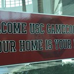 #SEC Love: Sign welcoming @GamecockFB fans at Baton Rouge Metro Airport. Kickoff @ LSU 3:30ET on ESPN. #SCFlood http://t.co/ShcXUv7mmR