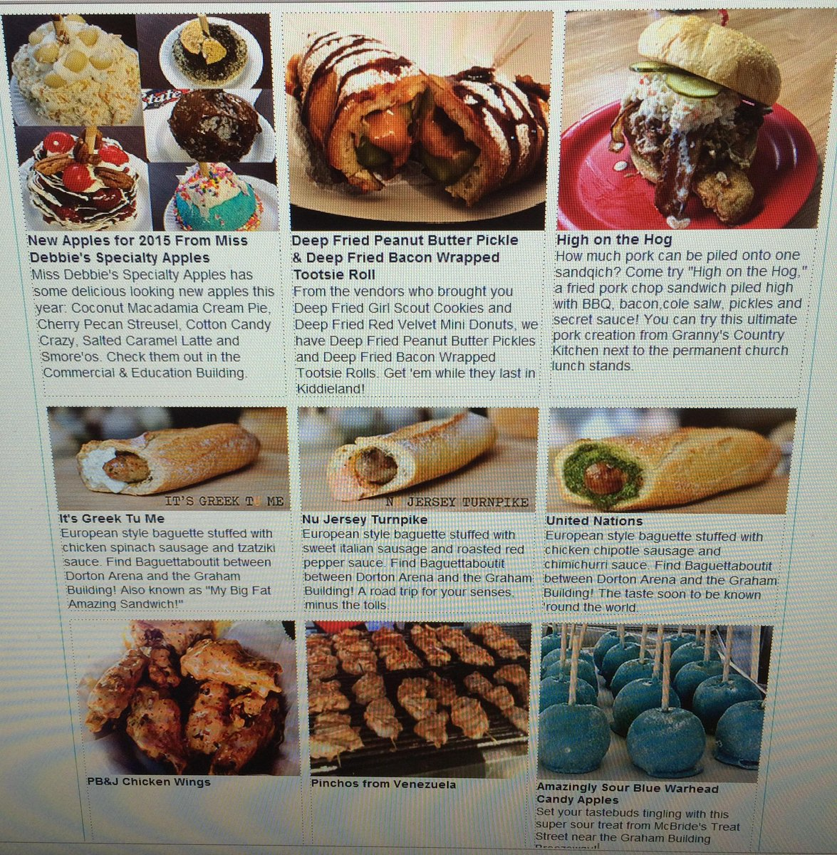 Things just got real. NEW FOODS RELEASED!! Eat all the things!! See them here: http://t.co/OggqYluXbq #ncstatefair http://t.co/j2KRi4rTbR