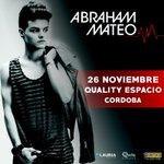 ATENCIÓN!! Por fin puedo confirmar mi 1er show en CÓRDOBA (Argentina)! A la venta el martes! Estoy súper feliz!???? RT! http://t.co/DgOxDytJGx