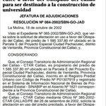 @Capital967 @tenoriopedro aquí está prueba de adjudicación de terrenos (2002)en fv obispado del Callao para Univ. http://t.co/apMQ87cmlu