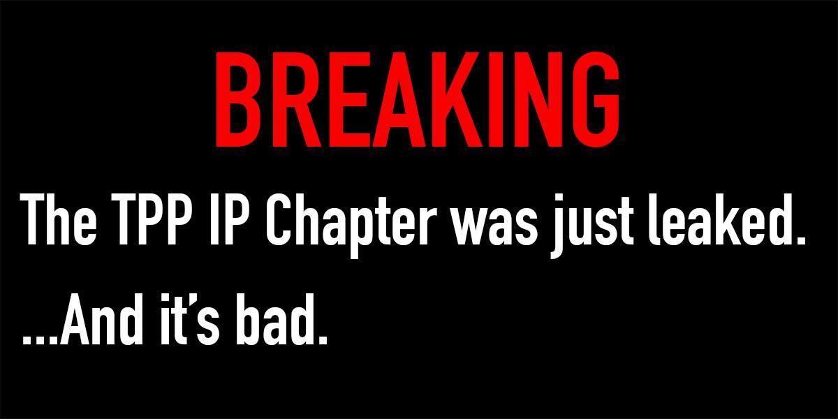 BREAKING: #TPP chapter leaked: confirms Canada caved on Internet censorship http://t.co/M2HcssAA9i #cdnpoli http://t.co/zSQZwRv3ur