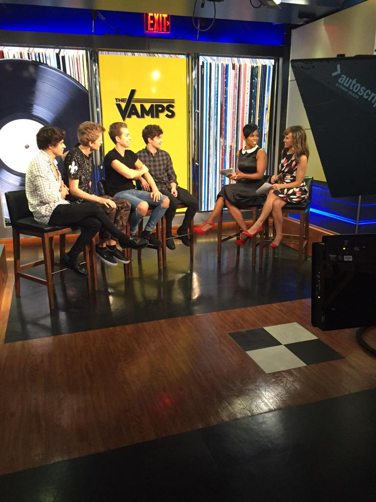 Having fun w/ @TheVampsband right now on #newyorklivetv! Full link will be up on http://t.co/2DL1SOGrmk later 2day! http://t.co/MmoJeXAg8b