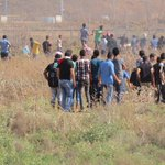Photos of the clashes with Israeli Forces east of #Gaza these moments .. #intifadaAlAqsa http://t.co/IfX2RkkJyy