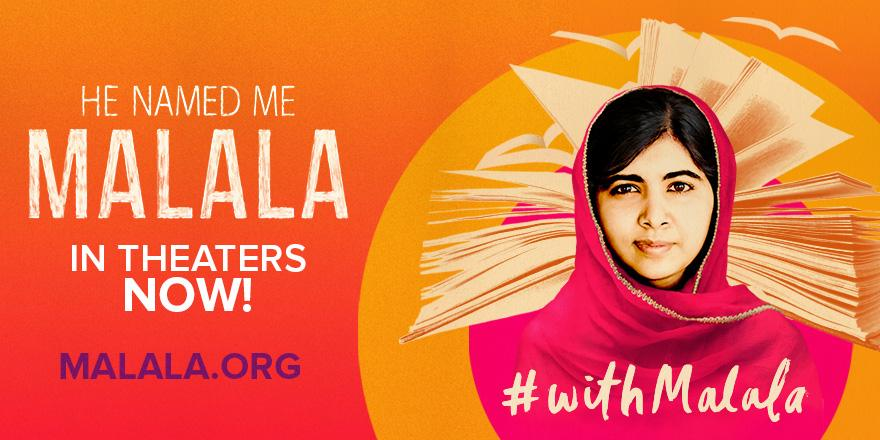 Pledge to see HE NAMED ME MALALA in honor of #DayoftheGirl Oct. 9 - 11 to stand #withMalala & support #girlsed. http://t.co/UqNkDvy1dz