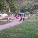 The pumptrack in Gage Bike Park #hamont is still crazy busy in October. What a success! @CrownPointHub @MGreenWard3 http://t.co/zUpELNgm6g