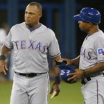 BREAKING: Adrian Beltre out of the lineup in Game 2 of ALDS between Rangers and Blue Jays: http://t.co/zXvtNOHRLm http://t.co/lZyCPiagV6