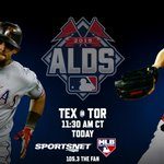 The Rangers take on the Blue Jays in Game 2 of the ALDS today at 11:30 AM CT. #NeverEverQuit http://t.co/NxZ1EApsQ6