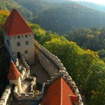 Hrad Kokořín, 50 km from #Prague, erected in 14th century. It hosts a large collection of furniture and paintings http://t.co/EiZVooGp76
