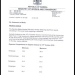 ITS HOT BUT | The Windhoek Meteorological Office distances itself from the heatwave hoax circulating on social media http://t.co/16dK1fBYP0