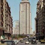 Gran Vía y Torre de #Madrid 1960 https://t.co/2vqbwUYojR