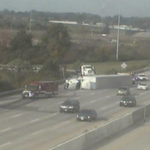 TRAFFIC ALERT: 270 EB is closed at 71 SB on the north side due to an overturned semi. #10TV http://t.co/soszThWqeT