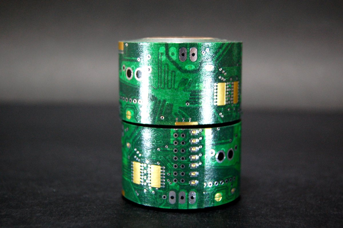 【 拡散希望 】完全公開! ナスカの電子回路 ⇒ https://t.co/70QbZlR4tw ← [ 様々なアングルから写真全公開! 箔押し電子回路マスキングテープ! ] #マステ #マスキングテープ http://t.co/s3jMmMOVYH