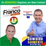 En Aguachica #seguimosPorBuenCamino con @FrancoOvalle gobernador y Oswaldo Sarmiento alcalde. http://t.co/e9raYf2JCz
