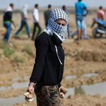 Palestinian girl participated in the clashes with Israeli forces east of #Gaza .. #intifadaAlAqsa #FreePalestine http://t.co/mjwDrox0LZ