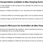 Transportation available to Max Keeping funeral / Transport offert pour les funérailles de Max Keeping http://t.co/ui1TMfqqLz