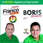 En Becerril #seguimosPorBuenCamino con @FrancoOvalle gobernador y Boris Alemán alcalde. http://t.co/ZEWKClLxyx