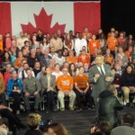 NDP leader Tom Mulcair kicks off campaign day in Montreal with rally. #elxn42 #cdnpoli http://t.co/YsdQfRPCCU