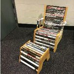 Win this game-used hockey stick chair for you #CBJ fan cave. Bid via our online auctions: http://t.co/mVOwLMl64p http://t.co/UnoLha7DTy