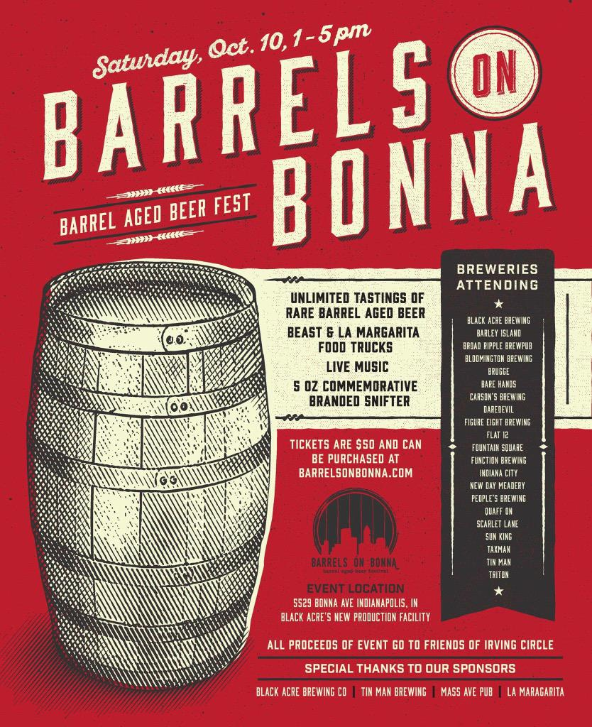 Retweet for a chance to win 2 tickets to #BarrelsOnBonna @BlackAcreBrewer tomorrow 1-5PM. Winner Announced 5PM today http://t.co/XS3Zq7VkNp