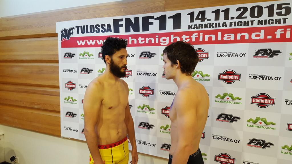 @SexyCurlsMMA all weighed in today for the Co-Main event @FightNightFin tomorrow night in Turku http://t.co/Iua3NCCGfJ