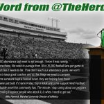 I am passionate about my university and my number one priority is to help advance this great institution. #BEHERD http://t.co/1ZBOg0Cdxw