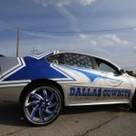 24-inch rims. White leather. Blue suede. Take a closer look at this slick Cowboys-themed car: http://t.co/5ar5HfONQ3 http://t.co/yTTuK1IrkJ