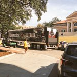 .@GamecockFB equipment truck has arrived at Tiger Stadium. #LSUvsUSC http://t.co/OJ1TbHQAo8