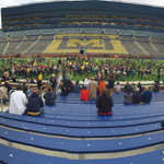Great to have @nyphil with us this weekend! Open rehearsal right now at The Big House. Catch more tomorrow! #GoBlue http://t.co/n9uD6RzPvP
