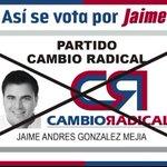 Por que quiero lo mejor para Valledupar voy a votar por @jaimeandresgm y espero que todos se decidan por el mejor .. http://t.co/KZJZoYp5pg
