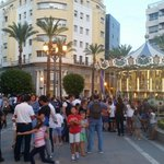 Noche Azul y Blanca en #Jerez. Ahora mismo Plaza del Arenal. http://t.co/eGWB1jPjDo