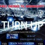 #Throwed Thursday #TurnUp Join the party #FREEDRINKS #LiveMusic #Djs #DoorPrizes #VainNightClub #Orlando Oct 29th http://t.co/irdW6b96F7