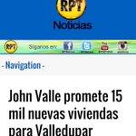 El alcalde de la vivienda @JohnValleC #UnAlcaldeDeVerdad para #Valledupar @RPTNoticias http://t.co/QUVCMAk5mL
