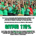 Herd Fans, more than HALF of our Big Green Members have given 110%. THANK YOU! #GIVE110 #BeHerd http://t.co/UynunBlNyo