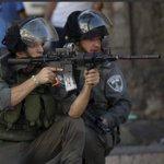 يصوبون أسلحتهم نحو المتظاهرين في الضفة والقطاع والقدس ارتقى 15شهداء منذ الهبة الجماهيريه وومئات الجرحى والمعتقلين http://t.co/GziV0DttUG